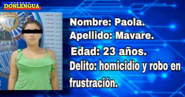 Cachifa detenida por asesinato y robo en Valencia