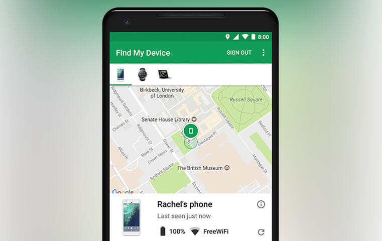 Google encuentra mi dispositivo