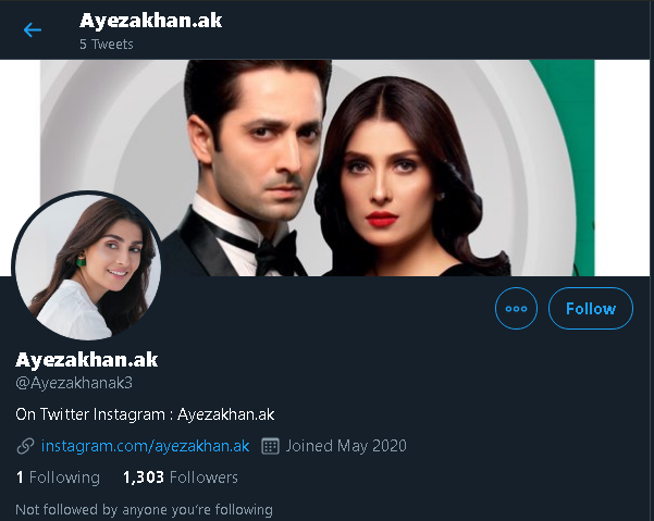 Ayeza Khan joins Twitter and Fans loved it