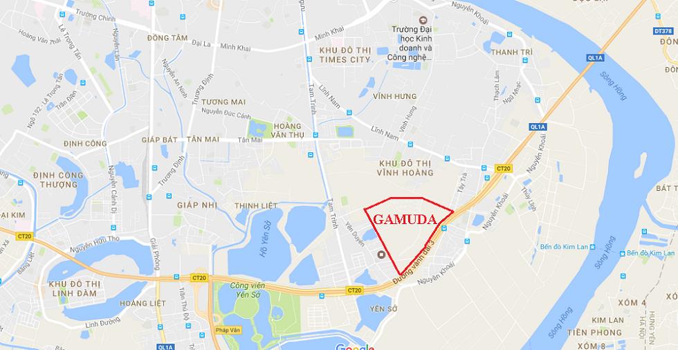 Vị trí dự án Gamuda Gardends