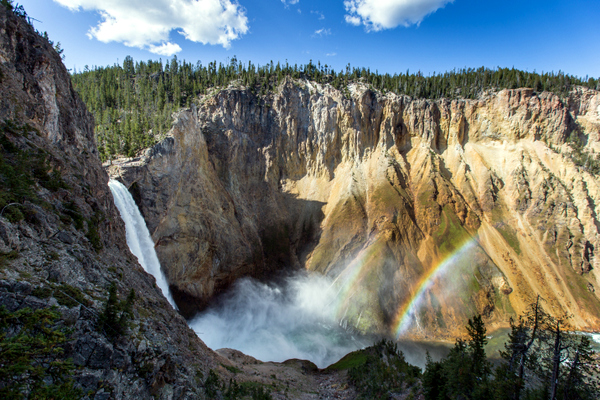 Gran Cañón de Yellowstone, con las Lower Falls (Yellowstone, Estados Unidos)