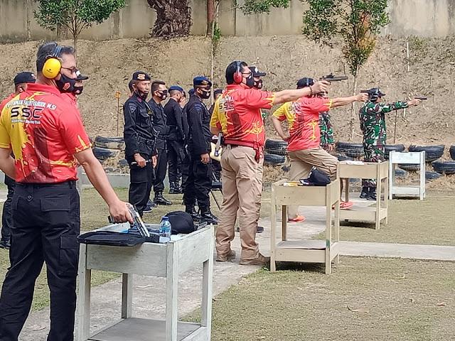 Kapolda Jambi Ikuti kejuaraan menembak Pistol Executive Dalam Rangka HUT Bhayangkara ke 74