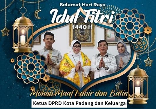 Gelar Open House, Ketua DPRD Padang Berbahagia Bersama Pasukan Kuning di Hari Lebaran