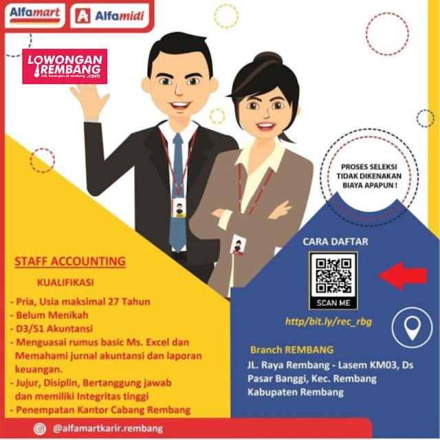 Lowongan Kerja Staff Accounting Alfamart Rembang
