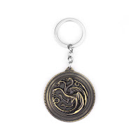 Targaryen keychain solid gold