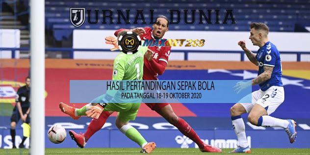 Hasil Pertandingan Sepakbola Tanggal 18 - 19 Oktober 2020