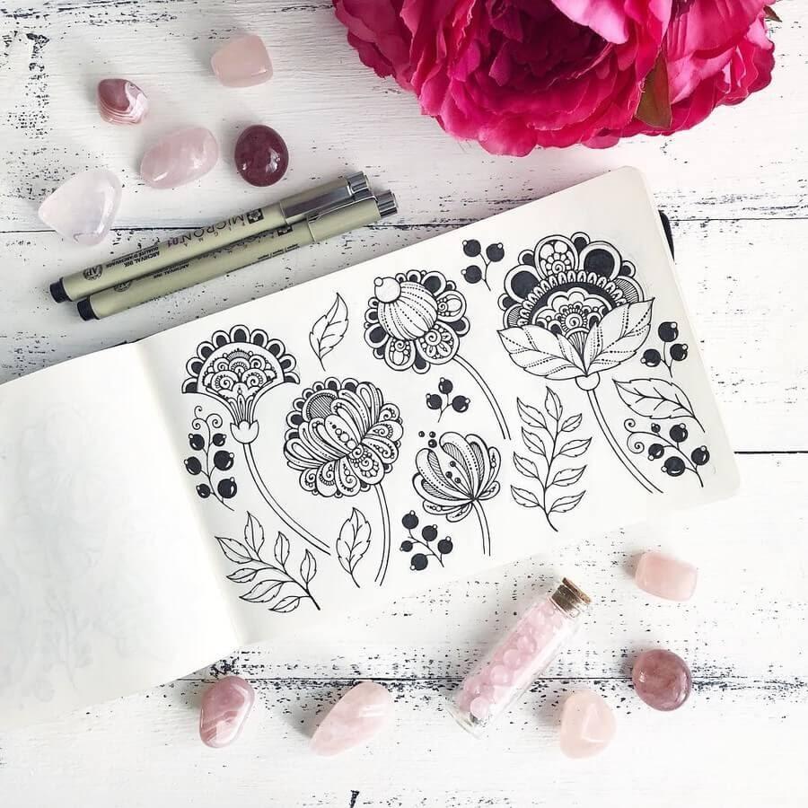 09-Ksenya-Gromova-Ink-Mandala-and-Flower-Drawings-www-designstack-co