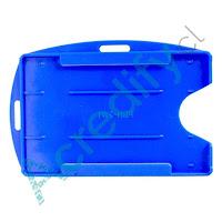 Porta credencial doble PVC azul