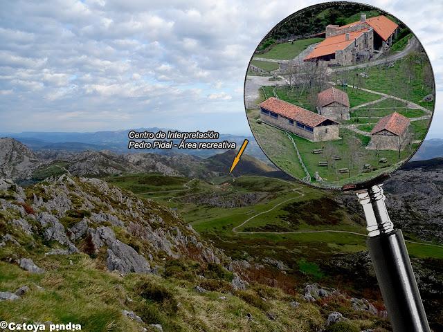 Centro de Visitantes en los Lagos de Covadonga.