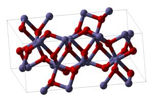 Molécula de óxido férrico u óxido de hierro (III)