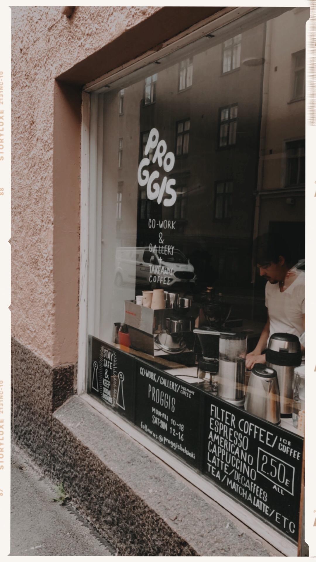 Proggis Helsinki, coffee - Helsingin kahvilat