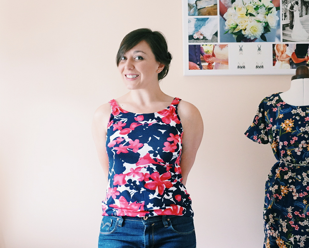 June's #wardrobebuilder project; Seamwork patterns Aurora tank