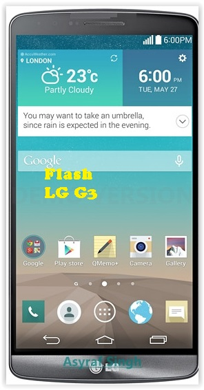 Guide To Flash Bricked Bootloop LG G3 A F410S with Original