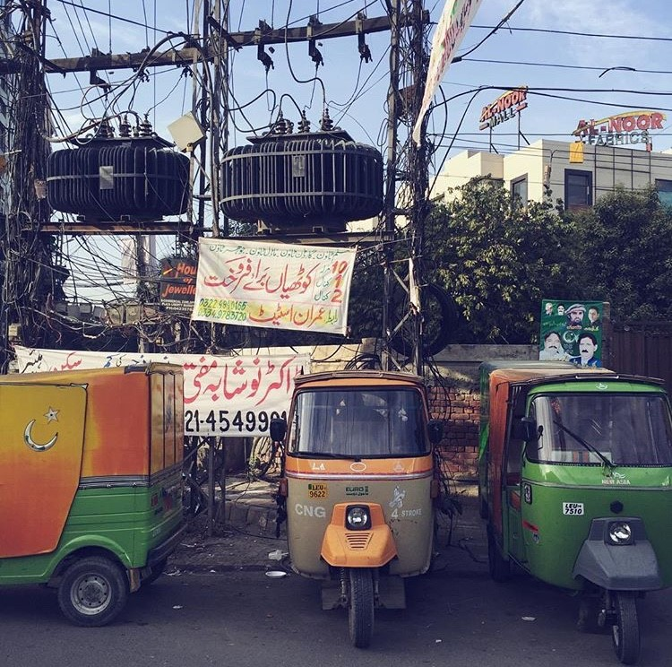 Rickshaws in Sahiwal, Pakistan.