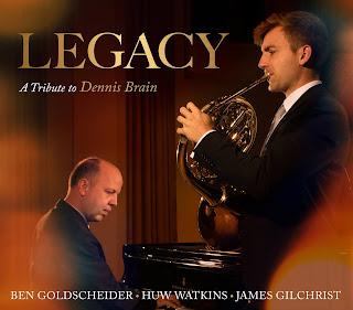 Legacy: A Tribute to Dennis Brain - Watkins, Arnold, Poulenc, Britten, Panufnik, Maxwell Davies; Ben Goldscheider, Huw Watkins, James Gilchrist; Three Worlds Records