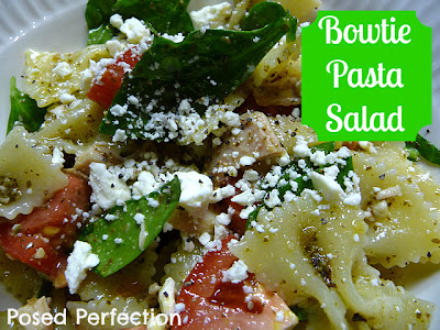 Posed Perfection: Bowtie Pasta Salad