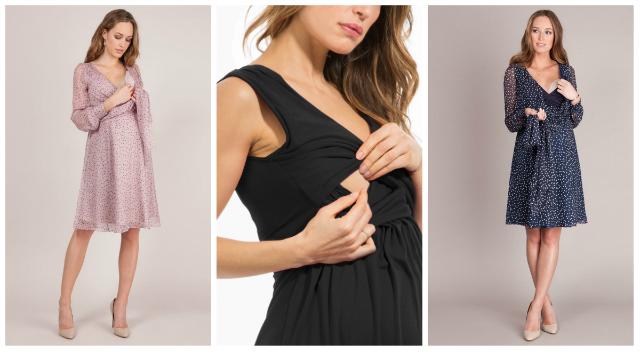 Vestidos de fiesta para mujeres lactantes