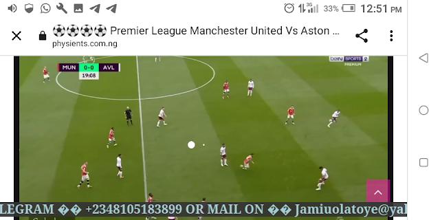 ⚽⚽⚽⚽ Premier League Manchester United Vs Aston Villa Live HD ⚽⚽⚽⚽