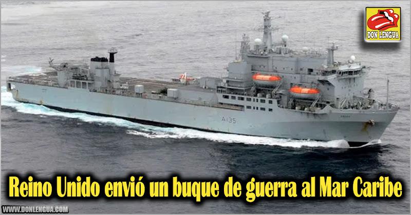 Reino Unido envió un buque de guerra al Mar Caribe