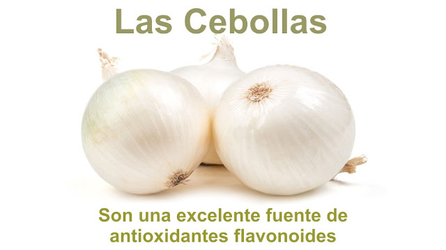 Las cebollas son una excelente fuente de antioxidantes flavonoides