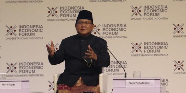 Prabowo Kritik Jokowi: Hari Ini Bilang A, Besok Bilang Hal Beda