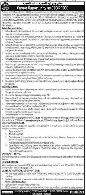 pesco-jobs-2021-advertisement-application-form-peshawar-electric-supply-company