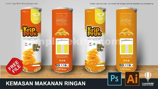 Kumpulan Contoh Kemasan Makanan Kaleng Coreldraw Dan Photoshop Gratis