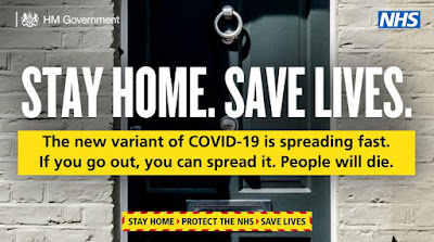 New variant spreading fast stay home save lives