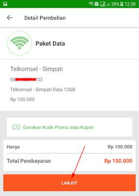 Cara Membeli Paket Data Internet di Tokopedia via Aplikasi 12
