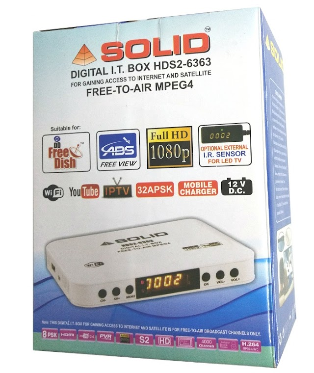 SOLID HDS2-6363 Mini ITBox with MPEG-4, DVB-S2, HD Satellite Card