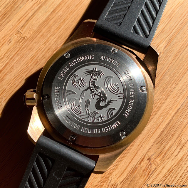 Advisor SUPA Diver bronze case back
