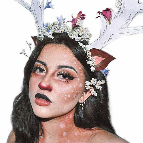 Maquillaje de reno con complementos caseros