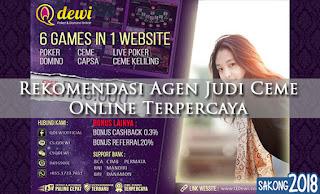 Rekomendasi Agen Judi Ceme Online Terpercaya