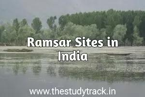 Total Ramsar Sites in India Upsc, Mppsc