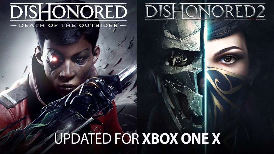 dishonored 2 death of the outsider xbox one x