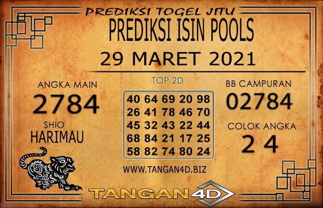 PREDIKSI TOGEL ISIN TANGAN4D 29 MARET 2021