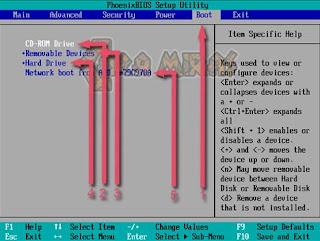 setting pengaturan bios instalasi windows 7, 8, 10 dengan flashdisk.