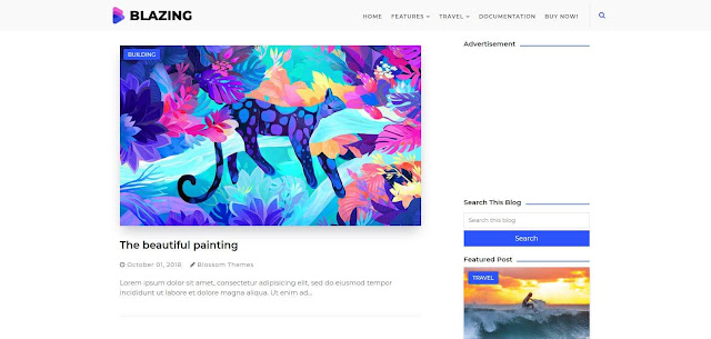 Blazing Premium Blogger Template