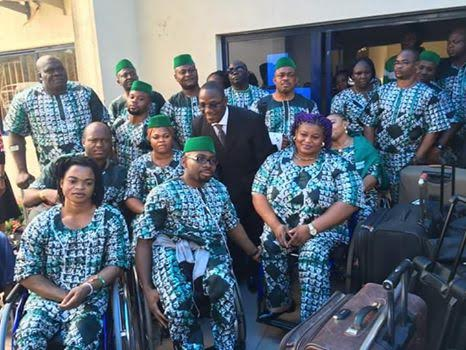 Nigeria's Paralympic Team to arrive to a reception in Abuja on Sept 18th