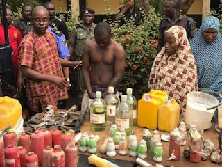 Photos: Suspected Boko haram bomb maker arrested in Edo state