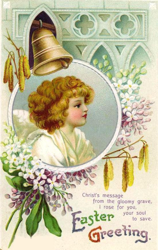 Ретро-открытки ко дню Святого Валентина.  Винтажные открытки к Пасхе(2). Прочитать целикомВ.