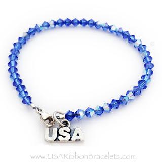 USA Charm Bracelet with a USA Charm