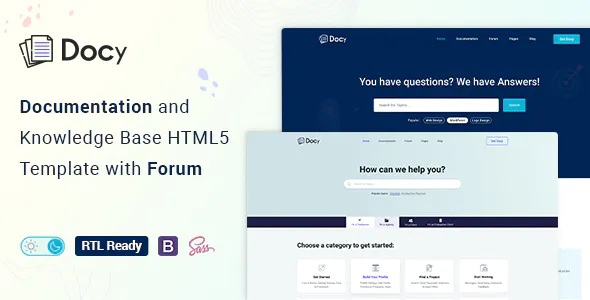 Best Documentation And Knowledge Base HTML5 Template with Helpdesk Forum