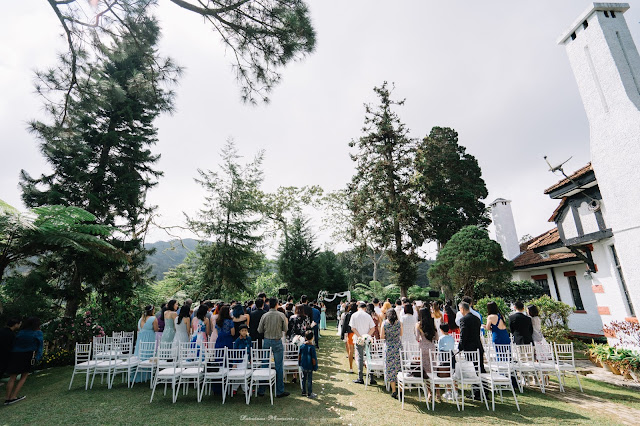 scenic garden wedding over the Cameron hills