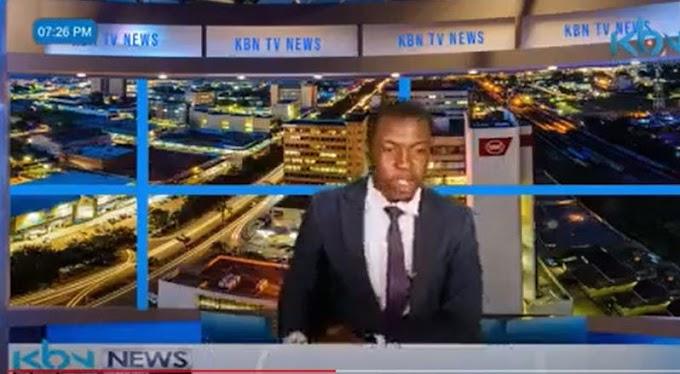 Zambian Tv news presenter demands salary during a live news report (Video)