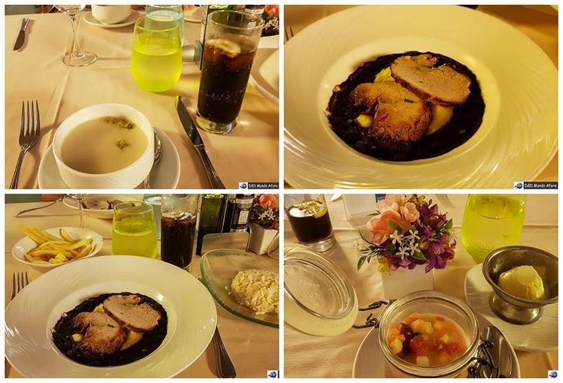 Refeições servidas no jantar a la carte - Cruzeiros marítimos: tudo sobre viagem de navio