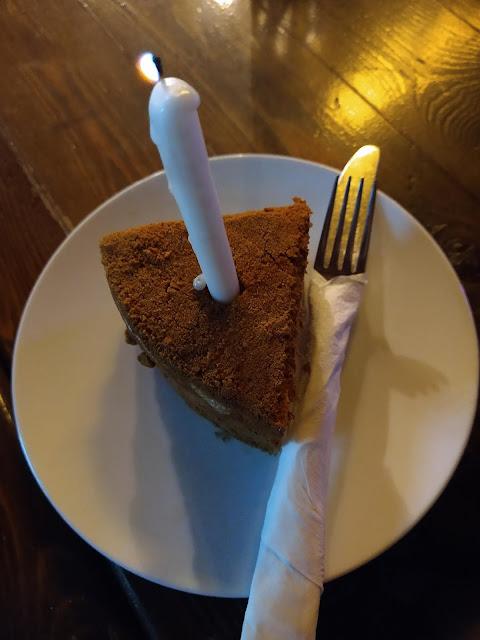 My (honey) birthday cake in Sharm, Egypt