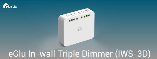 eGlu Home Automation In-Wall Triple Dimmer (IWS-3D)