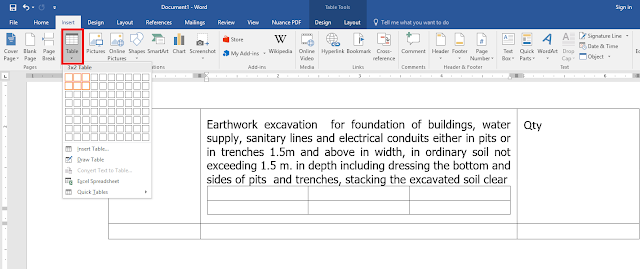 How to Insert Table In the Table in Word (Nested Table),how to insert nested table,word 2003,word 2007,word 2010,word 2013,word 2016,how to insert table in the table,table spacing,cell spacing,top bottom left right spacing,how to give space in table,insert cell and row in table,how to insert,how to add table in table cell,insert table in table cell,how to give space,border line,layout,cell margin,table margin,cell and row margin