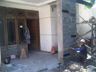 Jasa Tukang Taman Surabaya - Batu Alam 9